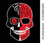 skull icon horror  red color... | Shutterstock .eps vector #1144682600