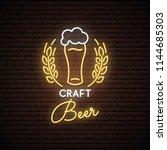 neon sign of craft beer. neon...   Shutterstock .eps vector #1144685303