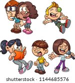 cartoon kids performing... | Shutterstock .eps vector #1144685576