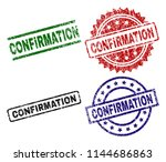 confirmation seal imprints with ... | Shutterstock .eps vector #1144686863