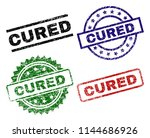cured seal prints with distress ... | Shutterstock .eps vector #1144686926