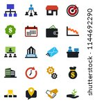 color and black flat icon set   ... | Shutterstock .eps vector #1144692290