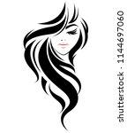 illustration of women long hair ... | Shutterstock .eps vector #1144697060