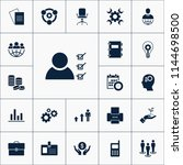 vector set of business icons.... | Shutterstock .eps vector #1144698500