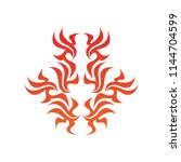 tribal flame decoration. simple ... | Shutterstock .eps vector #1144704599