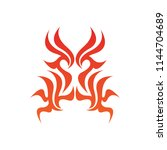tribal flame decoration. simple ... | Shutterstock .eps vector #1144704689