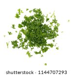 fresh green chopped parsley... | Shutterstock . vector #1144707293