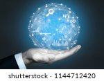 big data analytics and business ... | Shutterstock . vector #1144712420