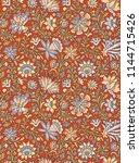 seamless texture floral design | Shutterstock . vector #1144715426