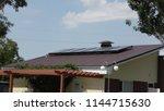 solar collectors  autonomous... | Shutterstock . vector #1144715630
