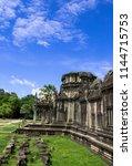 building in cambodia angkor wat ... | Shutterstock . vector #1144715753