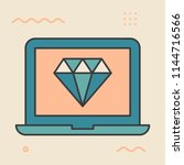 diamond. web design concept.... | Shutterstock .eps vector #1144716566
