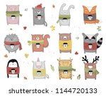 vector collection of line... | Shutterstock .eps vector #1144720133