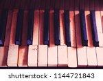Piano Keys  Red Tinted