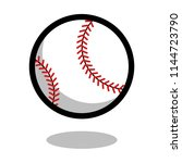 baseball softball sport ball... | Shutterstock .eps vector #1144723790