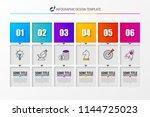 infographic design template.... | Shutterstock .eps vector #1144725023