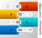 infographic design template.... | Shutterstock .eps vector #1144725080