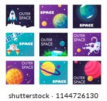set of web banner templates.... | Shutterstock .eps vector #1144726130