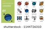universe icon pack filled... | Shutterstock .eps vector #1144726310
