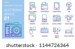 icon pack gradient style. icons ... | Shutterstock .eps vector #1144726364