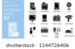 icon pack solid style. icons... | Shutterstock .eps vector #1144726406