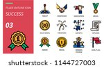 success icon pack filled... | Shutterstock .eps vector #1144727003