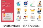 success icon pack flat style.... | Shutterstock .eps vector #1144727033