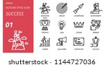 success icon pack outline style.... | Shutterstock .eps vector #1144727036