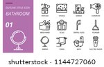 bathroom icon pack outline... | Shutterstock .eps vector #1144727060