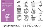 bathroom icon pack outline... | Shutterstock .eps vector #1144727270