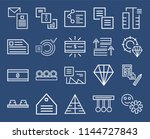 set of 20 icons such as think ...