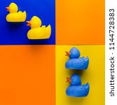 Yellow And Blue Rubber Ducks O...