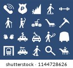 set of 20 simple editable icons ... | Shutterstock .eps vector #1144728626