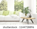 idea of white room with sofa... | Shutterstock . vector #1144728896