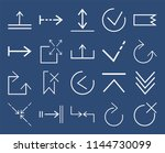 set of 20 icons such as close ... | Shutterstock .eps vector #1144730099