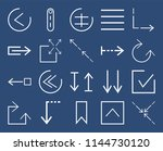 set of 20 icons such as... | Shutterstock .eps vector #1144730120