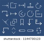 set of 20 icons such as update  ... | Shutterstock .eps vector #1144730123