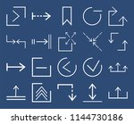 set of 20 icons such as upload  ... | Shutterstock .eps vector #1144730186