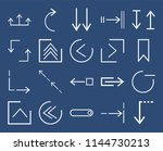 set of 20 icons such as down ...