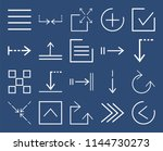 set of 20 icons such as left... | Shutterstock .eps vector #1144730273