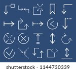 set of 20 icons such as... | Shutterstock .eps vector #1144730339