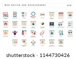web design and development. set ... | Shutterstock .eps vector #1144730426