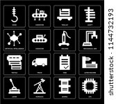 set of 16 icons such as cpu ...