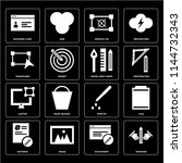 set of 16 icons such as drawing ...