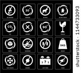 set of 16 icons such as noise ...