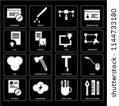 set of 16 icons such as swiss...