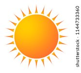 sun icon with jags as vector on ... | Shutterstock .eps vector #1144733360