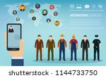 people of different occupations.... | Shutterstock .eps vector #1144733750