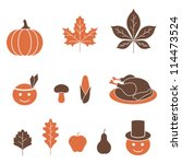 thanksgiving icons | Shutterstock .eps vector #114473524