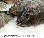 fish meat product on shelf in... | Shutterstock . vector #1144740110